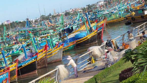 Fishing boats at Phan Thiet Vietnam