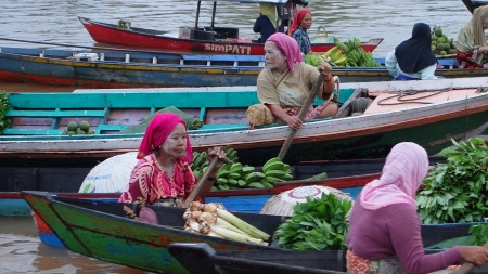 Pasar Terapung, Banjarmasin in Indonesia