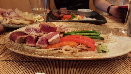 Tuna steak at Azabu in Paris
